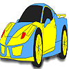 Fast yellow car coloring